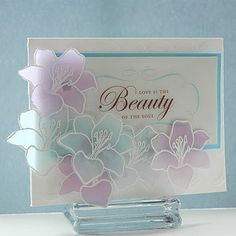 5th Avenue Floral. love these colours on vellum. use any flower.