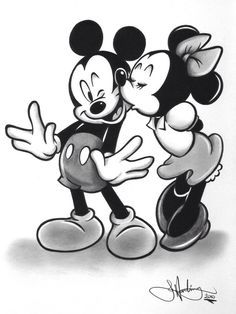 Image result for Mickey and Minnie vintage drawing
