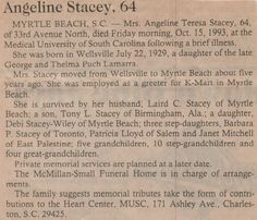 Angeline Stacey Obit - Photos and Stories — FamilySearch.org. Mike's Aunt.