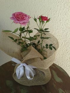 Burlap, Reusable Tote Bags, Flowers, Plant, Pink October, Gardening, Craft, Garden, Floral Arrangements