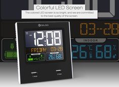 Digoo Time Calendar Format Switchable Temperature Humidity Display Dual Alarms Snooze Function NAP LED Backlight Alarm Clock with 2 USB Temperature And Humidity, Bars For Home, Digital Alarm Clock, Smart Home, Home Textile, Housekeeping, Party Supplies, Calendar, Home And Garden