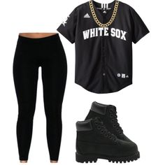 A fashion look from January 2015 featuring black leggings and engraved jewelry. Browse and shop related looks.