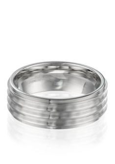 Belk  Co. Silver Mens Stainless Steel Ring