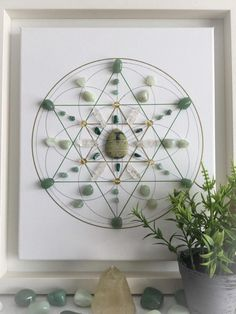 Health and wellbeing, a framed crystal grid for holistic health, healthy mind body and spirit Crystals Minerals, Rocks And Minerals, Crystals And Gemstones, Stones And Crystals, Diy Crystals, Gem Stones, Cristal Art, Cleansing Stones, Chakras
