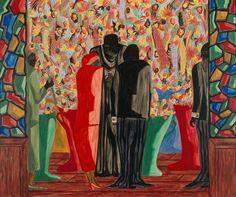 "Jacob Lawrence American, 1917-2000 ""The Wedding"", 1948  Egg tempera on hardboard"