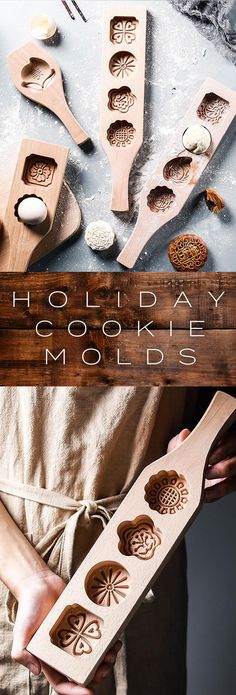I don't even make cookies and I want to buy these holiday cookie molds. Holiday Cookies, Holiday Treats, Christmas Treats, Holiday Recipes, Christmas Goodies, Christmas Desserts, Holiday Baking, Christmas Baking, Cake Cookies