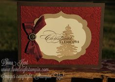 Dana Kent Stampin' Up! Demonstrator Simple Evergreen Christmas Card