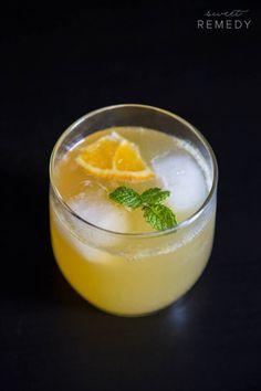 Orange Cream Bourbon Fizz