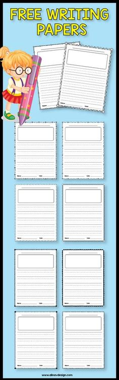 Free Writing Paper with Picture Box, Free Writing Paper Printable, Free Writing Paper Template