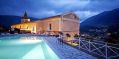 Locanda delle Donne Monache, Maratea, Italy - southern coastline. The outdoor swimming pool in the evening all it up, with stunning views. #swimmingpool #Italy #travelinspiration #hotel