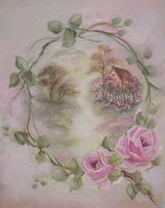 Romantic Rose Paintings, scrap book Cd, shabby note cards and more by Artist Jo-Anne Coletti