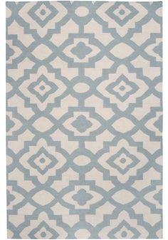 Candice Olsen Market Place Geometric Parchment Hand Woven Wool Rug - mediterranean - rugs - Zinc Door