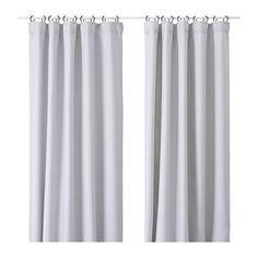 VILBORG Curtains, 1 pair, light gray 57x98