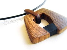 LITTLE BLACK Original Handmade Wooden by WoodpeckerJewellery