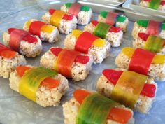 Rice crispie sushi for our Lego Ninjago party!