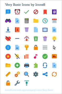Very Basic Icons by Icons8 @ coliss