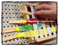 Meu Pequeno Autista by Mamãe Sandrinha: Trabalhando a coordenação motora fina entrelaçando tecido e elástico