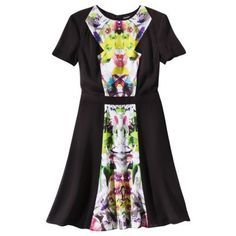 Prabal Gurung for Target Short Sleeve Dress Black with First Date Print | eBay $44.99 free shipping in USA - various sizes