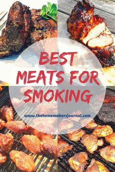 The 7 best for smoking in your BBQ - Beef Brisket, Prime Rib, Chicken, Pork Shoulder, Lamb, Venison (Deer), Fish. Know about meats that don't smoke well