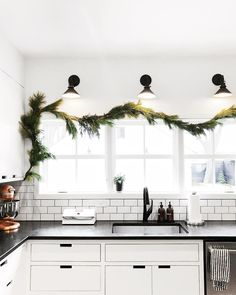 "2,193 Likes, 49 Comments - Melissa Coleman (@thefauxmartha) on Instagram: ""And the garland was hung by the kitchen sink with care...because @almostmakesperfect did it and…"""