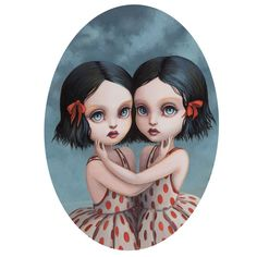 The Twins   Gouache and Acrylic on Board - Sold   Mab Graves 2010