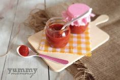 Pasta from red pepper { πάστα πιπεριάς Φλωρίνης} Baby Food Recipes, Pudding, 12 Months, Tableware, Desserts, Blog, Babies, Recipes For Baby Food, Tailgate Desserts
