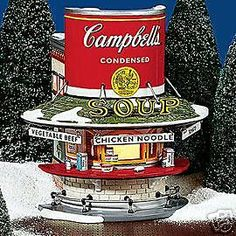 "DEPT 56 Snow Village ORIGINAL ""CAMPBELL'S SOUP COUNTER"" #SNOWVILLAGE"