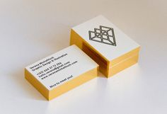 underconsideration.com  Verena Michelitsch Business Card  Diamonds may be a girl's best friend, but metallic edge gilding is worth its weight in gold.  — Kelly Cree