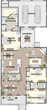 Historic House Plan New Urban Classics Collection  House Plan ID: BSA-2133  2,133 SqFt  3 Bedrooms, 2½ Bathrooms  Single Level  ...