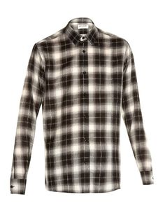 Saint Laurent Checked long-sleeved shirt