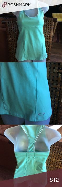 Oakley Workout Top size S💕 Cute and in good condition. Mint green. Oakley Tops Tank Tops