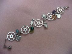 Steampunk Gears and Time Bracelet by KrazyByDesign on Etsy, $12.00