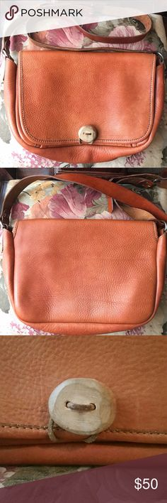 Italian Leather Messenger Bag from Italy Italian hand-crafted bag purchased in Italy. Beautiful quality durable thick Italian leather! Discolorations, scuff-marks, scratches to leather & hardware. Minimal pen marks. Two small spots on outside bottom. Bottom edges show wear. Some patina on strap. Some marks on inside. Flaws give it character. Preloved item from multiple owners & may have lingering odors. I try to eliminate all odors the best I can but sometimes it's impossible. What everyone…