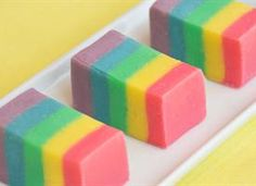 Rainbow Fudge!  (and before anyone complains, you have to join the site -it's free- to be able to see the recipe)