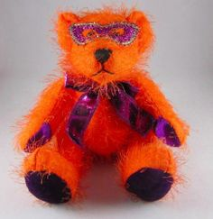 "Dan Dee 12"" Orange Plush Teddy Bear Stuffed Animal Halloween Mask SPIKEY | eBay"