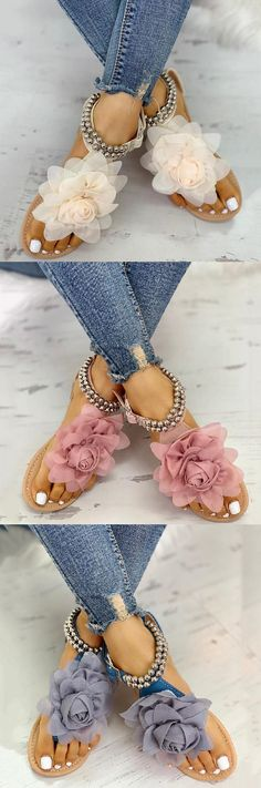 Shop Now > Summer Casual Sandals & Slippers, Up to OFF < Styles for your choice Cute Sandals, Cute Shoes, Me Too Shoes, Flat Sandals, Shoe Boots, Shoes Heels, Flats, Dream Shoes, Beautiful Shoes