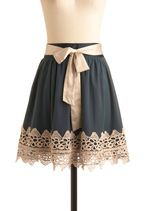 pretty skirt with lace and ribbon sash!
