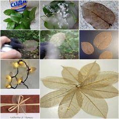 How to DIY Pretty Skeleton Leaf | www.FabArtDIY.com LIKE Us on Facebook ==> https://www.facebook.com/FabArtDIY