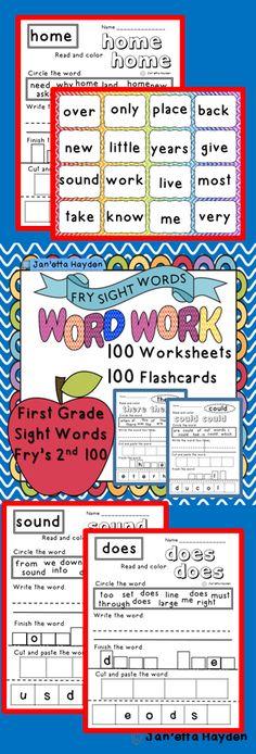 Sight Words- First Grade- Fry's Second Janetta Hayden Sight Word Activities, Vocabulary Activities, Classroom Activities, First Grade Words, Second Grade, Grade 2, Word Study, Word Work, Kindergarten Teachers
