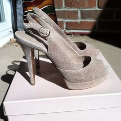 BCBG  sling backs Heel Height: 5 1/4 in                                     Platform Height: 1 1/2 in BCBG Shoes