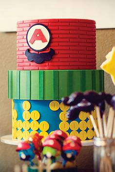 Power Up! Super Mario Brothers Birthday Party: The Cake