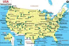map of national parks in usa | Grey