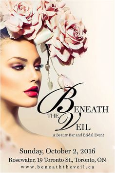 Proud to be sponsoring Beneath the Veil - Toronto Bridal Show http://www.theweddingopera.com/2016/05/09/toronto-bridal-show/ October 2nd, 2016. Register for your ticket today! Full details in link above!