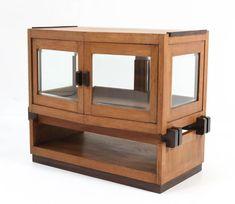 Oak Art Deco Haagse School Tea Cabinet by Anton Lucas Leiden, 1920s For Sale at 1stDibs Art Deco Furniture, Leiden, Beveled Glass, Anton, Solid Oak, 1920s, Liquor Cabinet, Tea, The Originals