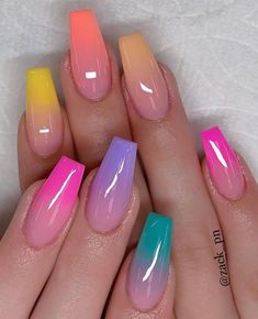 Millions of women put a lot of time, care and attention into their nails. Moreover, often we just don't have the time for setting up weekly or bi-weekly manicure Summer Acrylic Nails, Best Acrylic Nails, Spring Nails, Fabulous Nails, Gorgeous Nails, Pretty Nails, Gorgeous Makeup, Nail Designs Pictures, Cute Acrylic Nail Designs