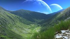alien landscape by digital art other landscapes scenery 2012 . Space Fantasy, Fantasy Concept Art, Fantasy World, Sea Of Stars, Space City, Alien Planet, Alien Worlds, Fantasy Illustration, Another World