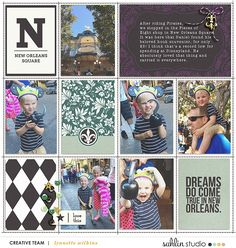 Disney New Orleans Square Eats Food digital Project Life layout using Project Mouse (New Orleans): Elements by Britt-ish Designs and Sahlin Studio
