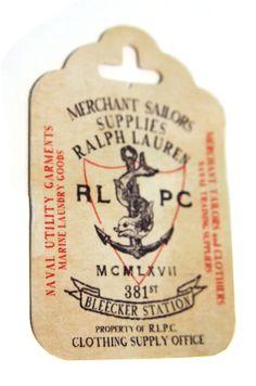 Ralph Lauren #hangtag