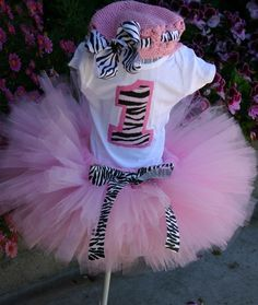 Pink Zebra Princess Birthday Tutu Set- inlcudes onsie, tutu and bow-Can be made in any color-Perfect for Birthday Monkey Birthday, Baby 1st Birthday, Birthday Tutu, Princess Birthday, Birthday Bash, Birthday Ideas, Pink Tutu, Pink Zebra, Cool Ideas