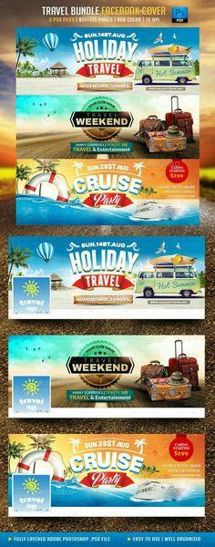 Holiday Travel Flyer Web Design, Web Banner Design, Social Media Design, Flyer Design, Facebook Cover Design, Facebook Cover Template, Facebook Timeline Covers, Creative Facebook Cover, Banners